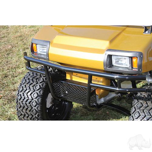 RHOX Brush Guard, Front Black Powder Coat Steel, Club Car DS