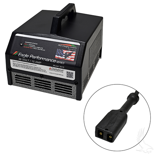 Battery Charger, Eagle Performance Series, 36 Volt 15 Amp Output, PowerWise Plug