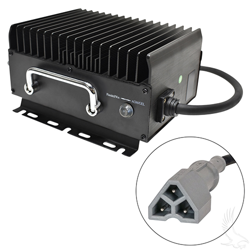 Admiral Advantage High Frequency Golf Car Charger, E-Z-Go 3 Pin, 48 V 11Amp